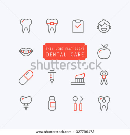 stock-vector-dental-care-thin-line-trendy-icons-vector-illustration-327799472