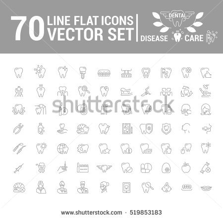stock-vector-vector-set-of-flat-graphic-icon-line-contour-thin-design-dental-dentist-element-emblem-519853183